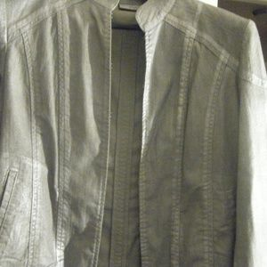 Women Chico's  Grey/Silver  Jacket Size 2